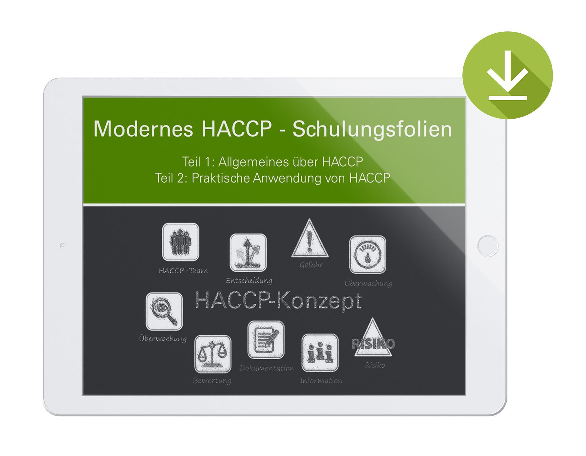 Schulungsfolien zu Modernes HACCP - Zum Download